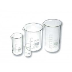 LOW glass beaker with spout...